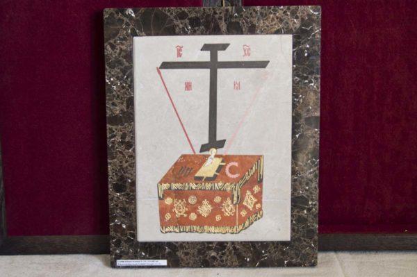 Икона Владимирской Божией Матери № 2 из мрамора, камня, от Гливи, фото 11