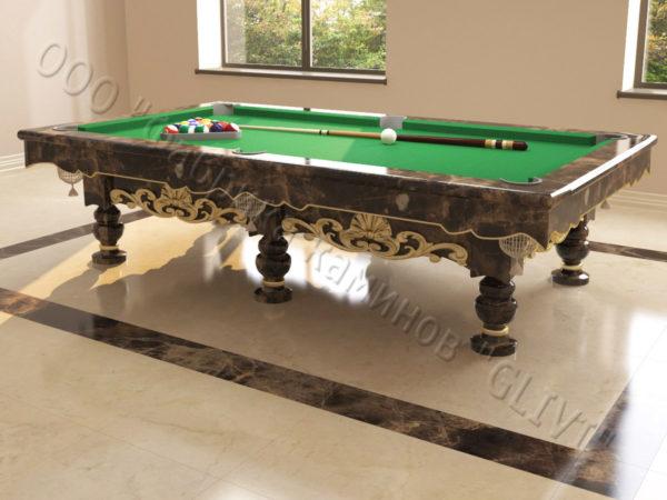Бильярдный стол из натурального камня (мрамора) Калантэ, фото 3