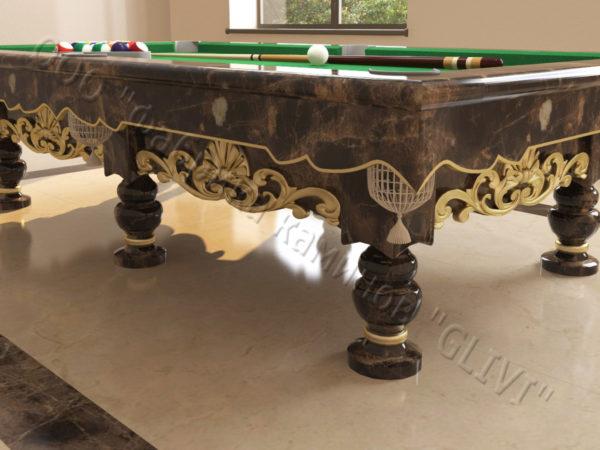 Бильярдный стол из натурального камня (мрамора) Калантэ, фото 5