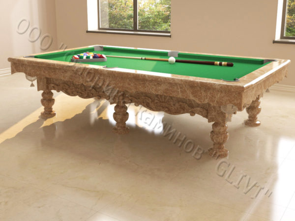 Бильярдный стол из натурального камня (мрамора) Калантэ, фото 6