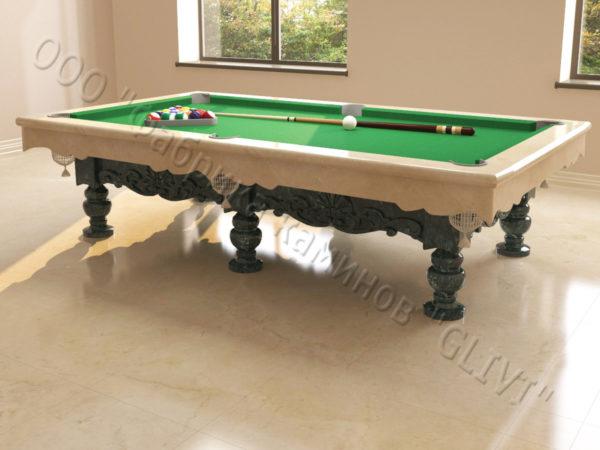 Бильярдный стол из натурального камня (мрамора) Калантэ, фото 7