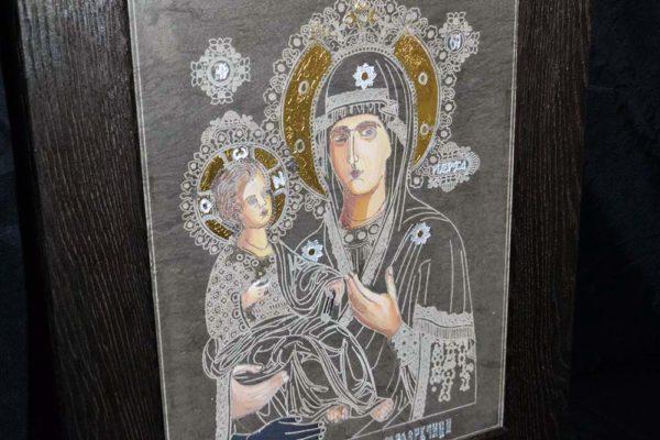 Икона Божией Матери Троеручица № 1-01 из мрамора, камня, изображение, фото 2