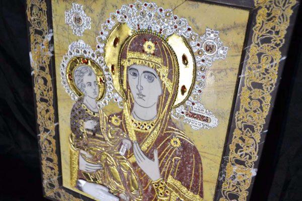 Икона Божией Матери Троеручица № 2-12-4 из мрамора, камня, изображение, фото 3