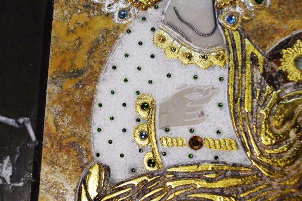 Икона Божией Матери Троеручица № 2-12-5 из мрамора, камня, изображение, фото 6