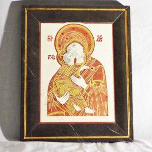 Икона Владимирской Божией Матери № 5 из мрамора, камня, от Гливи, фото 12