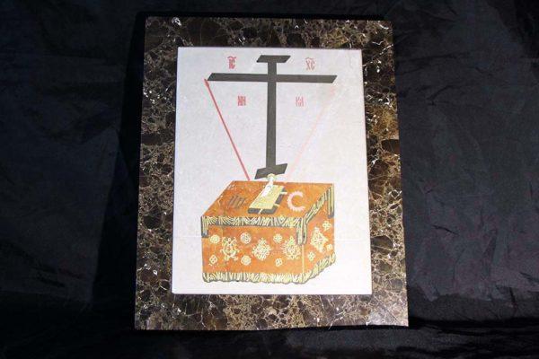 Икона Владимирской Божией Матери № 2 из мрамора, камня, от Гливи, фото 15