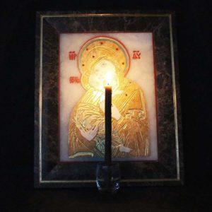 Икона Владимирской Божией Матери № 2 из мрамора, камня, от Гливи, фото 16