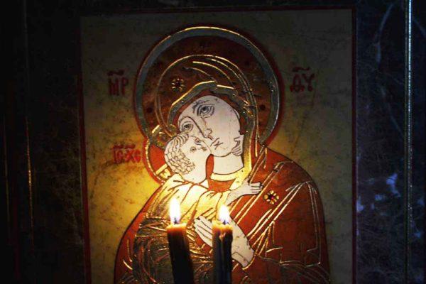 Икона Владимирской Божией Матери № 9 из мрамора, камня, от Гливи, фото 4