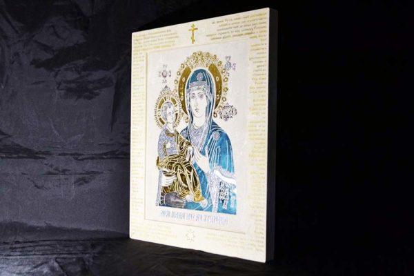 Икона Божией Матери Троеручица № 02-1 из мрамора, камня, изображение, фото 2