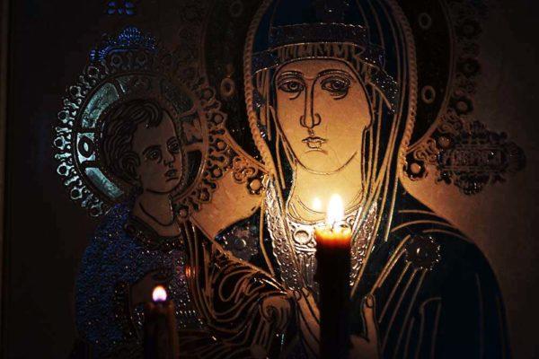 Икона Божией Матери Троеручица № 02-1 из мрамора, камня, изображение, фото 3