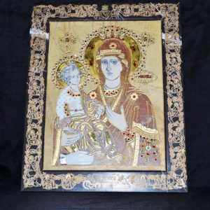 Икона Божией Матери Троеручица № 2-12-11 из мрамора, камня, изображение, фото 1
