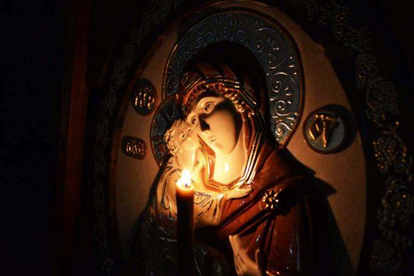 Икона Жировицкой Божией Матери № 2 (рельефная) из мрамора, камня, изображение, фото 3