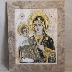 Икона Божией Матери Троеручица № 2-12-10 из мрамора, камня, изображение, фото 6