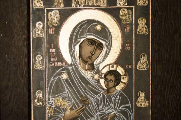 Икона Иверской Божией Матери № 1-2 из мрамора, камня, от Гливи, фото 2