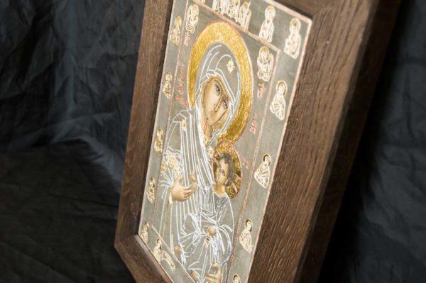 Икона Иверской Божией Матери № 1-2 из мрамора, камня, от Гливи, фото 1