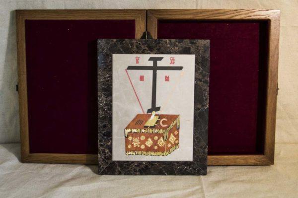 Икона Владимирской Божией Матери № 6 из мрамора, камня, от Гливи, фото 4