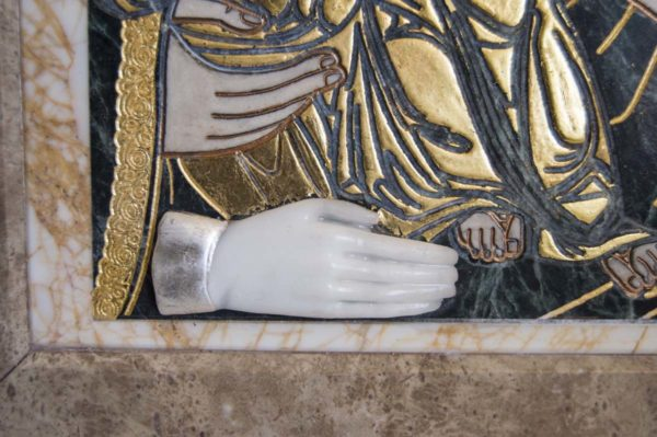 Икона Божией Матери Троеручица № 2-12-10 из мрамора, камня, изображение, фото 9