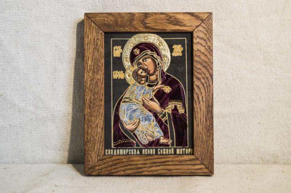 Икона Владимирской Божией Матери № 01 из мрамора, камня, от Гливи, фото 1
