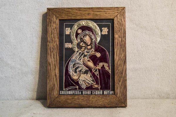 Икона Владимирской Божией Матери № 02 из мрамора, камня, от Гливи, фото 1