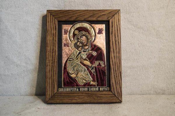Икона Владимирской Божией Матери № 03 из мрамора, камня, от Гливи, фото 1