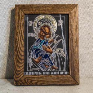 Икона Владимирской Божией Матери № 04 из мрамора, камня, от Гливи, фото 1