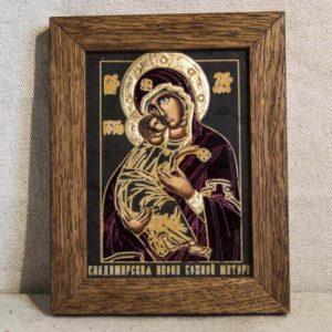 Икона Владимирской Божией Матери № 05 из мрамора, камня, от Гливи, фото 1