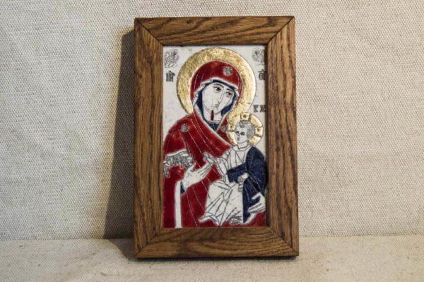 Икона Иверской Божией Матери № 1 подарочная из мрамора, камня, от Гливи, фото 1