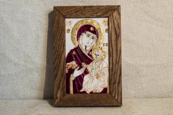 Икона Иверской Божией Матери № 2 подарочная из мрамора, камня, от Гливи, фото 1