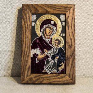 Икона Иверской Божией Матери № 3 подарочная из мрамора, камня, от Гливи, фото 1