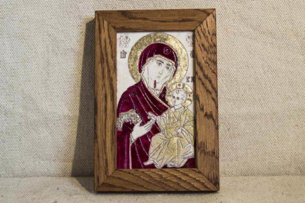 Икона Иверской Божией Матери № 4 подарочная из мрамора, камня, от Гливи, фото 1