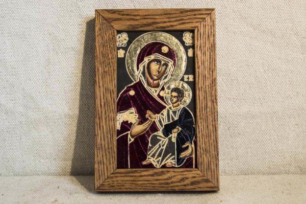 Икона Иверской Божией Матери № 5 подарочная из мрамора, камня, от Гливи, фото 1