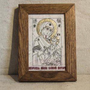 Икона Иверской Божией Матери № 7 подарочная из мрамора, камня, от Гливи, фото 1