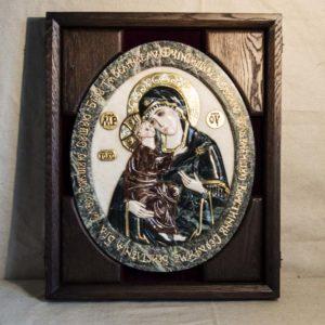 Икона Жировицкой Божией Матери (Богоматерь) № 4 (рельефная) из мрамора, камня, изображение, фото 6
