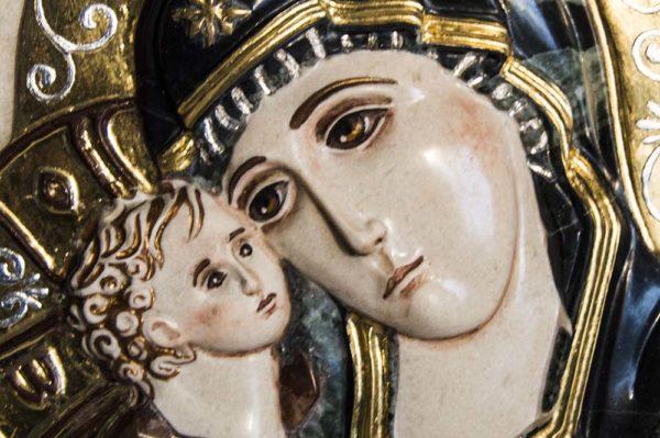 Икона Жировицкой Божией Матери (Богоматерь) № 4 (рельефная) из мрамора, камня, изображение, фото 5