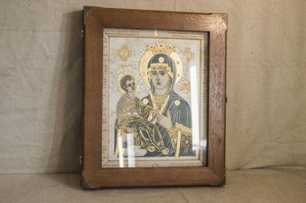 Икона Божией Матери Троеручица № 2-12-3 из мрамора, камня, изображение, фото 2