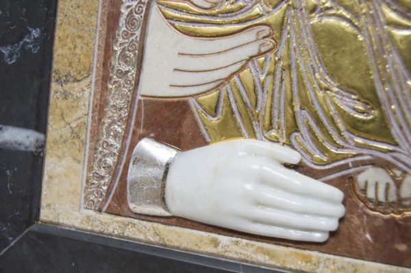 Икона Божией Матери Троеручица № 2-12-14 из мрамора, камня, изображение, фото 4