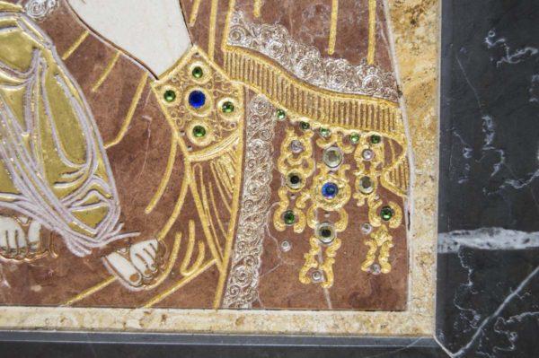 Икона Божией Матери Троеручица № 2-12-14 из мрамора, камня, изображение, фото 5