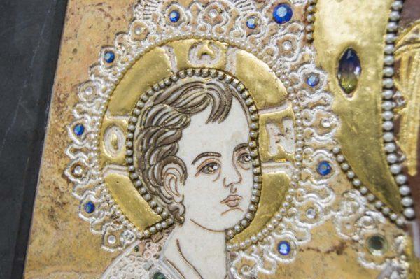 Икона Божией Матери Троеручица № 2-12-14 из мрамора, камня, изображение, фото 7