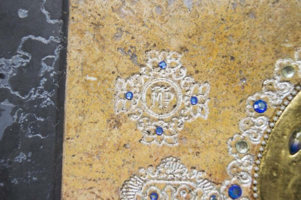 Икона Божией Матери Троеручица № 2-12-14 из мрамора, камня, изображение, фото 8