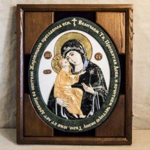 Икона Жировицкой Божией Матери (Богоматерь) № 5 (рельефная) из мрамора, камня, изображение, фото 11