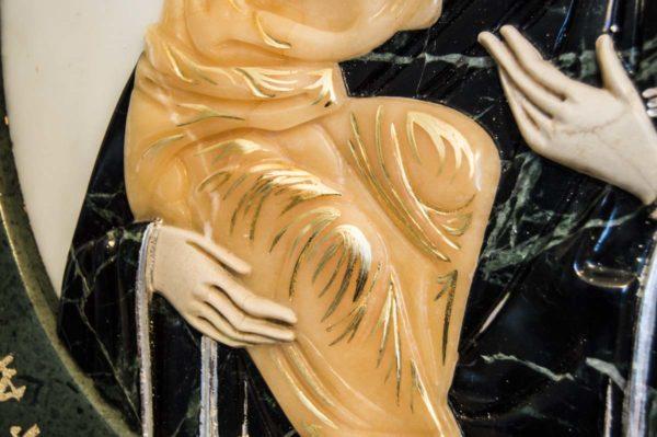 Икона Жировицкой Божией Матери (Богоматерь) № 5 (рельефная) из мрамора, камня, изображение, фото 5