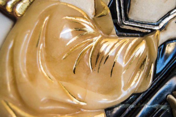 Икона Жировицкой Божией Матери (Богоматерь) № 5 (рельефная) из мрамора, камня, изображение, фото 3