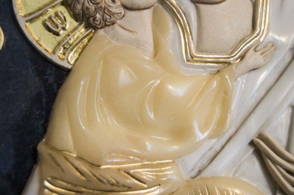 Икона Жировицкой Божией Матери (Богоматерь) № 6 (рельефная) из мрамора, камня, изображение, фото 10