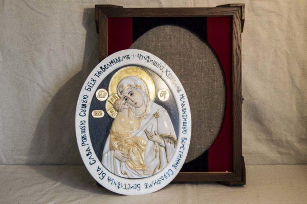 Икона Жировицкой Божией Матери (Богоматерь) № 6 (рельефная) из мрамора, камня, изображение, фото 11