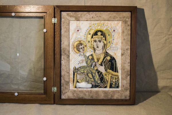 Икона Божией Матери Троеручица № 2-12-10 из мрамора, камня, изображение, фото 11