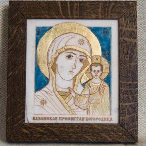 Икона Казанской Божией Матери № 39 подарочная из мрамора, камня, от Гливи, фото 1