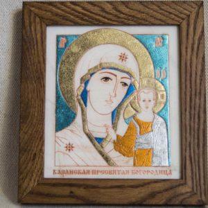 Икона Казанской Божией Матери № 42 подарочная из мрамора, камня, от Гливи, фото 1