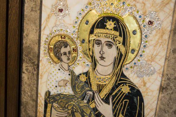 Икона Божией Матери Троеручица № 2-12-10 из мрамора, камня, изображение, фото 12