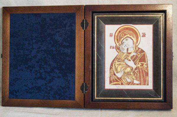 Икона Владимирской Божией Матери № 4 из мрамора, камня, от Гливи, фото 1