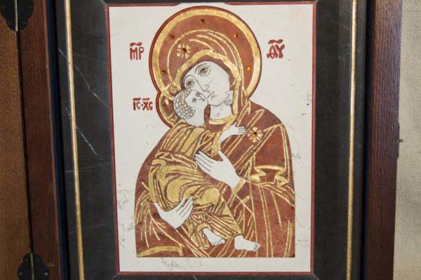 Икона Владимирской Божией Матери № 4 из мрамора, камня, от Гливи, фото 2